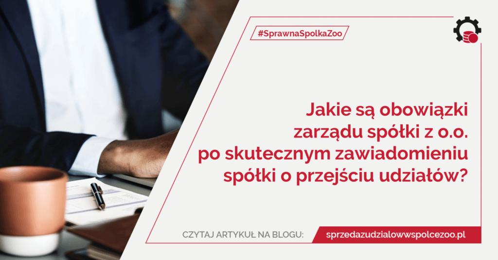 obowiązki zarządu spółki zo.o.